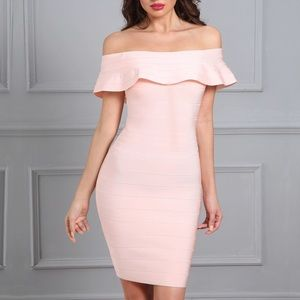 Dresses & Skirts - Off shoulder bandage evening party bodycon dress