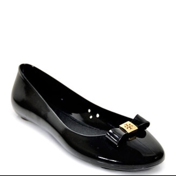 7293925c532 Tory burch black jelly bow ballet flats. M 5951a63a99086a5dda022442