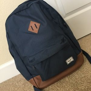 Fun navy backpack.