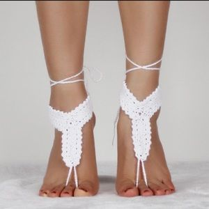 Other - Handmade Crochet Rope Anklets - White