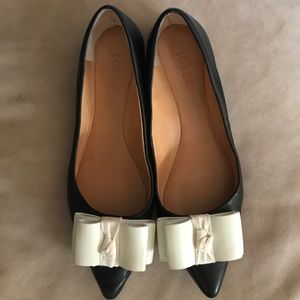 J. Crew Emery Leather pointed Toe Flats Shoes 7.5