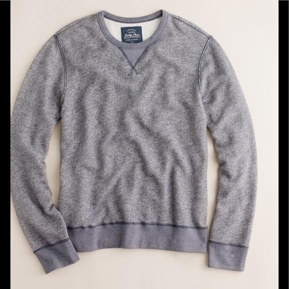Activewear Jcrew Mens Grey Hoody Vintage Fleece Size L Men's Clothing
