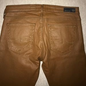 Ag Adriano Goldschmied Jeans - AG Jeans - Brown coated denim; size 27 NEVER WORN