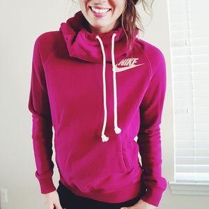 Nike Tops - Nike  cowl neck hoodie   medium