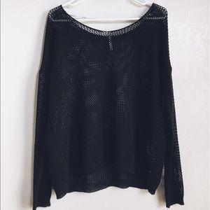zinga Tops - Black Knitted Longsleeve