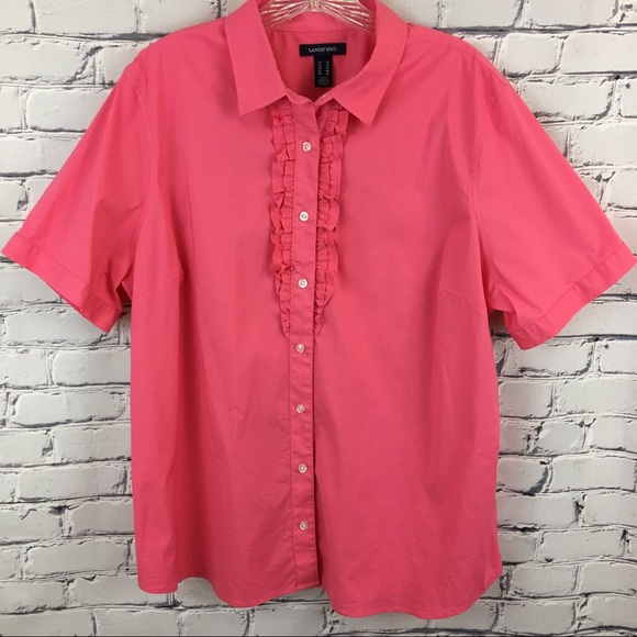 Lands End - Lands End Coral Button Down Shirt from Beach wave's ...