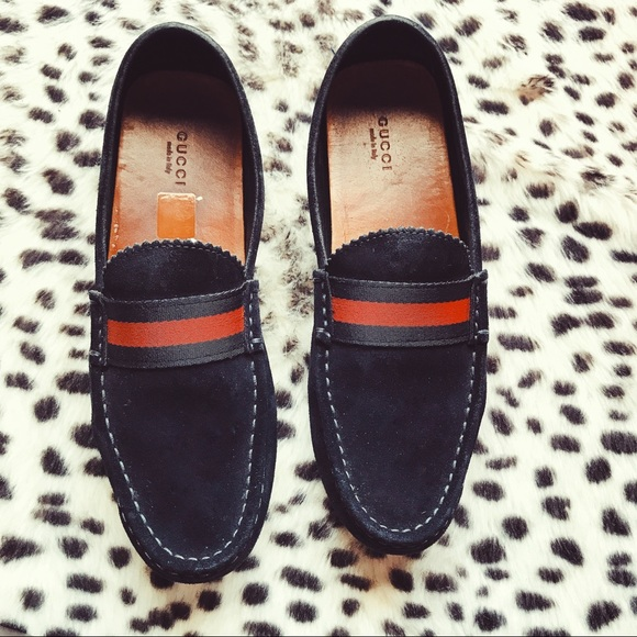 736dd1baf7e Gucci damo driver blue suede leather loafer