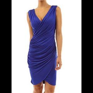 PattyBoutik Dresses & Skirts - PattyBoutik V-Neck Faux Ruched Dress