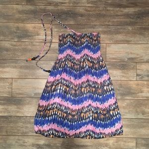 Dresses & Skirts - Multi-colored halter dress. Tag says one size