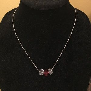 Other - Costume Necklace with red and clear beads