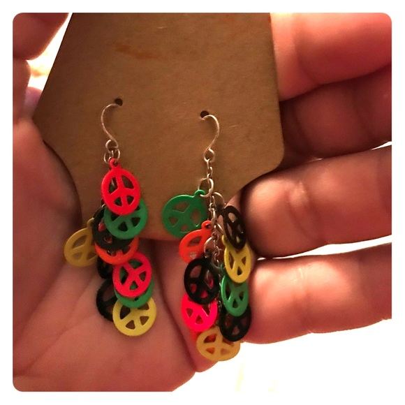 Download 43% off Claire's Jewelry - PEACE SIGN MULTI COLOR EARRINGS ...