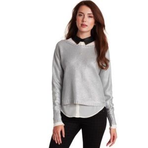 BCBGMaxAzria Silver Camille Knit Sweater
