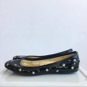 Jimmy Choo Patent Star Studded Flats