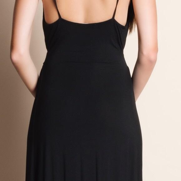 Bellanblue Dresses - DAISY Open Back Maxi Dress - BLACK