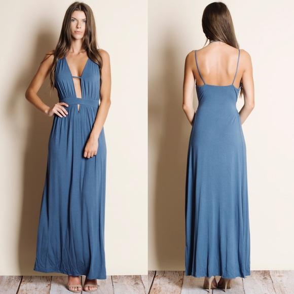 Bellanblue Dresses & Skirts - DAISY Open Back Maxi Dress - BLUE