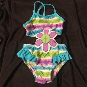Other - OP 12 month monokini green blue purple tyedye swim