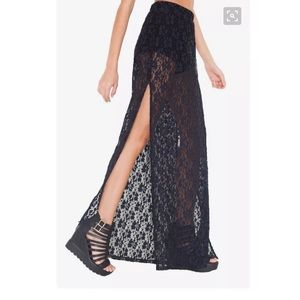 MINKPINK Dancing in the Dark Maxi Skirt