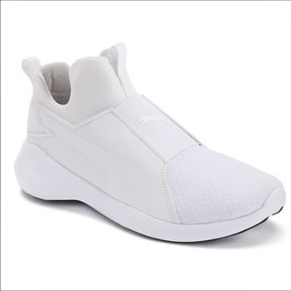 Puma Rebel Mids All White ba4ddb399
