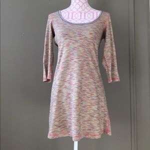 Anthropologie multi-color minidress with tie belt!