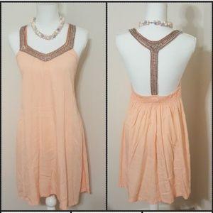 bam l lue Dresses & Skirts - Bam l Lue   Peach Bead Dress