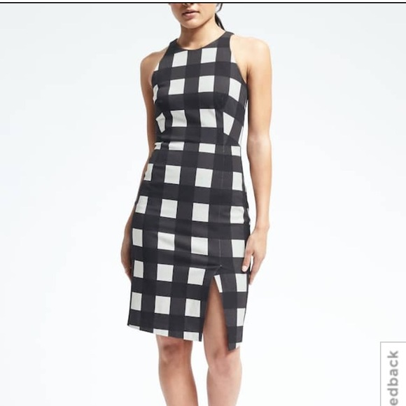Banana Republic Dresses & Skirts - Gingham Bi-Stretch Sheath Dress