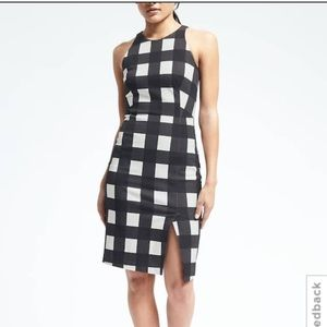 Banana Republic Dresses - Gingham Bi-Stretch Sheath Dress