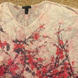 INC Concepts Cherry Blossom V-Neck Top