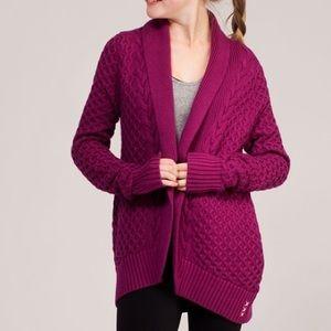 Ivivva by Lululemon Knit Cardigan Wrap Burgundy 12