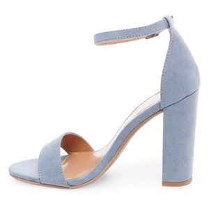 Block heel sandal pumps with ankle strap