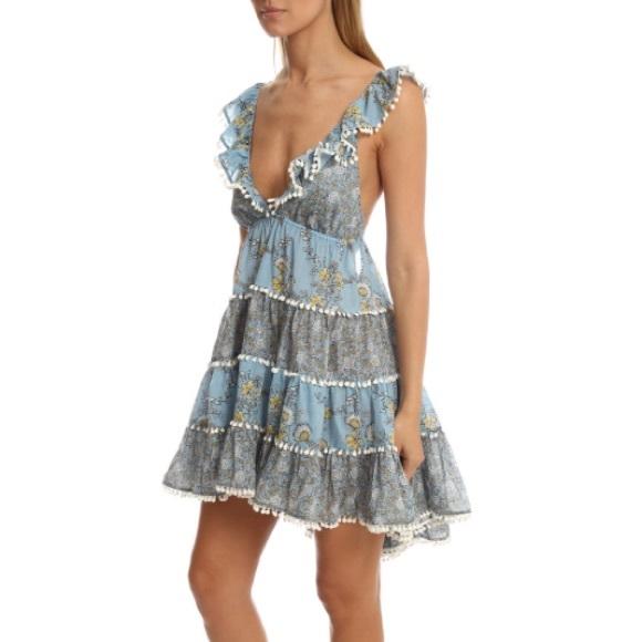 b2894217910 Zimmermann Caravan Tiered Sun Dress NWT
