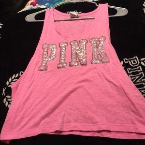 Vs pink sequin tank