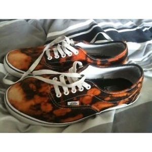 Bleached Destroyed Simple Vans Era Sneakers NWT