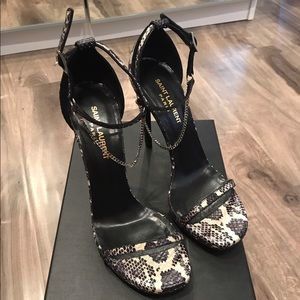 Yves Saint Laurent Shoes - Genuine YSL Python Chained Heel
