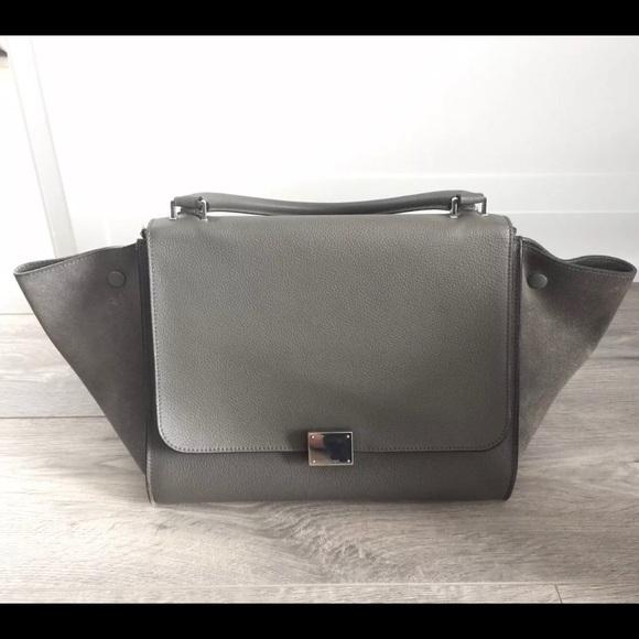 Celine Handbags - Auth Céline Trapeze Medium Gray Calfskin w Dustbag e691fed4e56f8