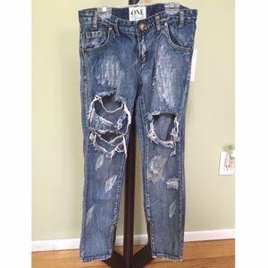 One teaspoon cobain trashed freebird jeans 26 NWT