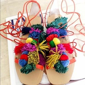 Zara Lace Up Flat Sandals