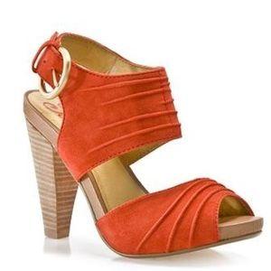 Seychelles Shoes - 💕SALE💕 Seychelles Tangerine Suede Heels