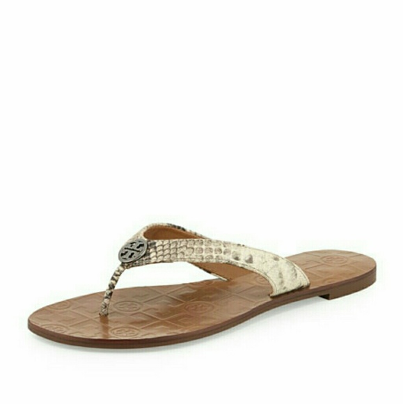 a5fc87cc74fde Tory Burch Thora 2 leather sandals snake python 7