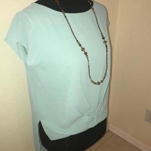 NWT Hi-Lo Mint Colored Blouse