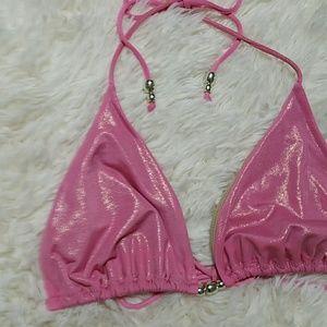 81580745abb ... Victoria s Secret shiny metallic pink bikini ...
