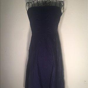 J. CREW Blue Textured Strapless 100% Cotton Dress