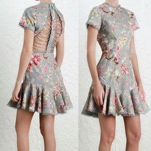 Zimmermann Dresses & Skirts - Zimmermann Mercer Flutter Floral Mini Dress Blue