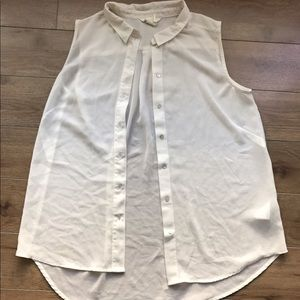 H&M Sleeveless Bottom Down shirt Sz 10 Low High