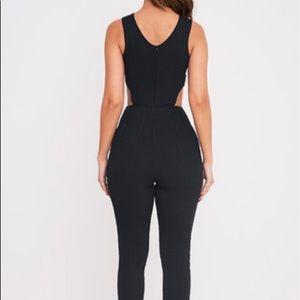 588c14baf5a prettylittlething Pants - PrettyLittleThing Julia Black bandage Jumpsuit