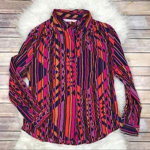 Trina Turk Tops - Trina Turk Silk Button Up Blouse