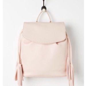 Handbags - Pink tassel backpack