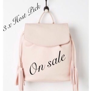 Pink tassel backpack