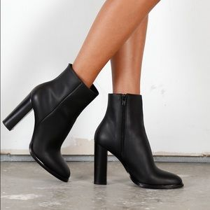 Vince Overton Leather Ankle Booties