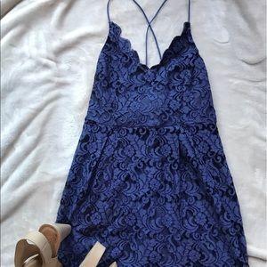She and Sky Dresses & Skirts - Navy blue lace dress