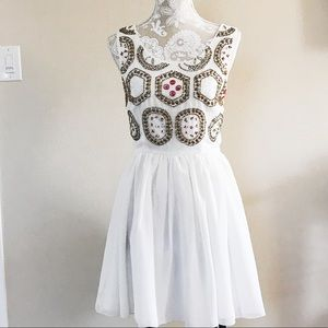 Bar III embellished chiffon dress